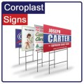 Coroplast yard signs 18x24 in full color on 2 sides